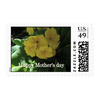 Yellow flowers postage