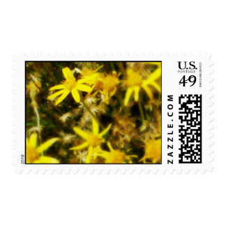 Yellow Flowers Postage Stamp
