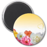 Yellow Flowers Refrigerator Magnets