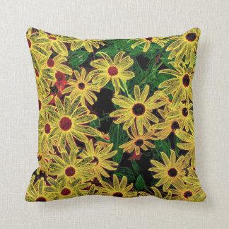Yellow flowers Rudbeckia Throw Pillow