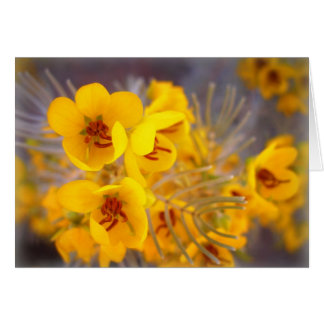 Yellow Flowers Stationery Note Card
