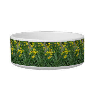 Yellow Flowers Surrounded By Grass Bowl