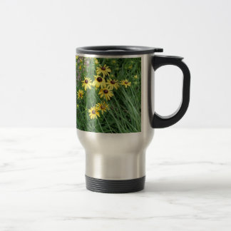 Yellow Flowers Surrounded By Grass 15 Oz Stainless Steel Travel Mug
