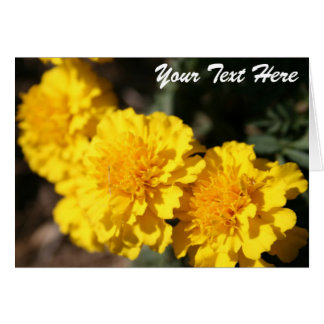 Yellow Flowers Template Card