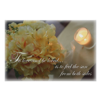 Yellow Flowers To Love quote photography print