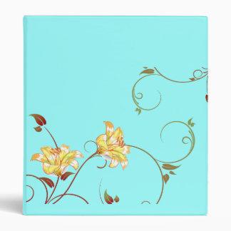 Yellow Flowers,Turquoise Binder
