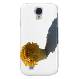 Yellow Flowers White Bucket and Shadow Galaxy S4 Cover