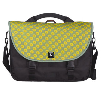 Yellow Flowers with green background Laptop Messenger Bag