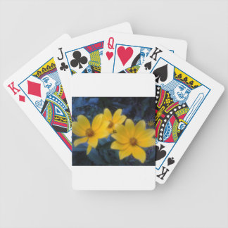 Yellow Flowersf Bicycle Playing Cards