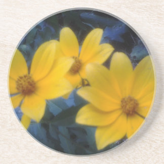 Yellow Flowersf Drink Coaster