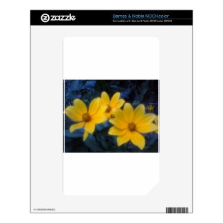 Yellow Flowersf Decals For NOOK Color