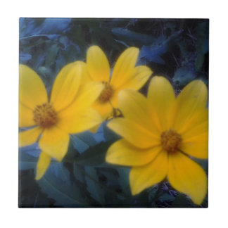 Yellow Flowersf Tile