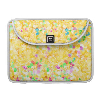 Yellow Flowery Background Sleeves For MacBook Pro