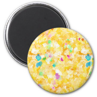 Yellow Flowery Background Refrigerator Magnets