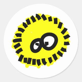 Yellow Fluffy Germ Classic Round Sticker