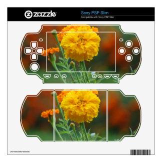 Yellow Fluffy Marigold Flower Skins For PSP Slim