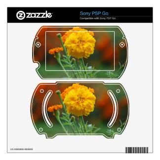 Yellow Fluffy Marigold Flower Skin For Sony PSP Go