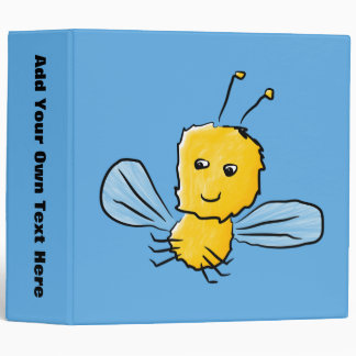 Yellow Flying Insect Bug 3 Ring Binder