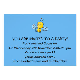 Yellow Flying Insect Bug 4.5x6.25 Paper Invitation Card