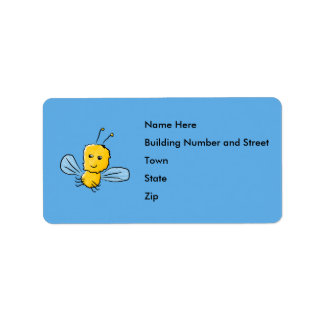 Yellow Flying Insect Bug Address Label
