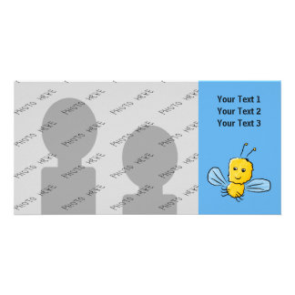 Yellow Flying Insect Bug Personalized Photo Card