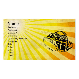 Yellow Football Double-Sided Standard Business Cards (Pack Of 100)