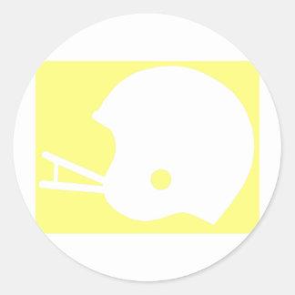 Yellow Football Helmet Logo Classic Round Sticker