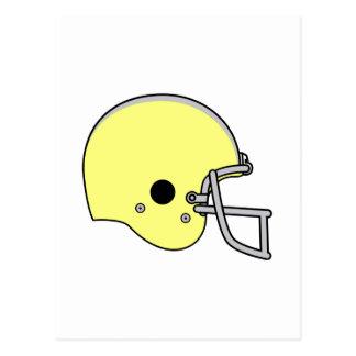 Yellow Football Helmet Postcard
