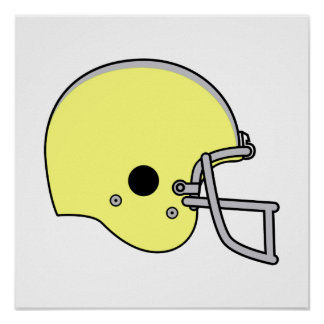 Yellow Football Helmet Poster