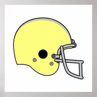 Yellow Football Helmet Print