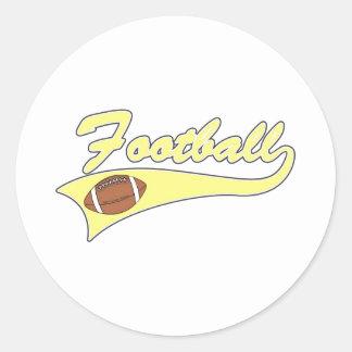 Yellow Football Logo Classic Round Sticker