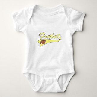 yellow football logo t-shirt