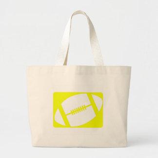 yellow football logo tote bag