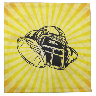 Yellow Football Napkin