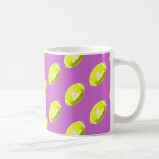 Yellow Football Pattern Coffee Mug