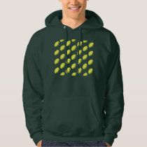 Yellow Football Pattern Hoodie