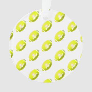 Yellow Football Pattern Ornament