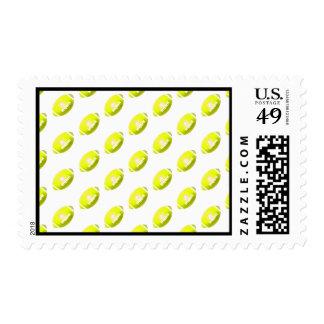 Yellow Football Pattern Postage