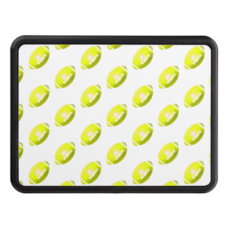 Yellow Football Pattern Trailer Hitch Cover