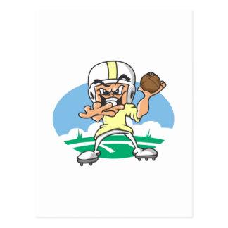 Yellow Football Player Postcard
