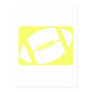 Yellow Football Postcard