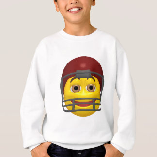 Yellow football smiley face sweatshirt