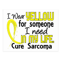 Yellow For Someone I Need Sarcoma Postcard