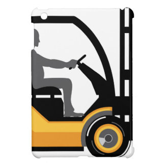 Yellow forklift iPad mini cover