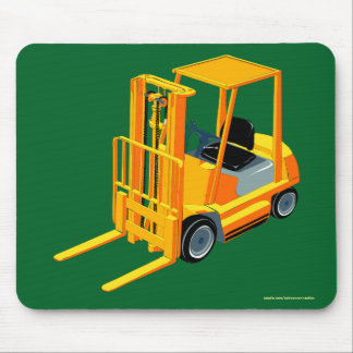 Yellow Forklift, Pallet Truck for Kids Mouse Pad