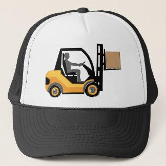 Yellow forklift trucker hat