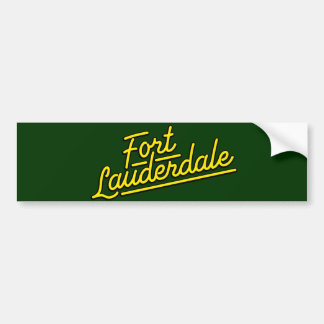 yellow Fort Lauderdale Car Bumper Sticker