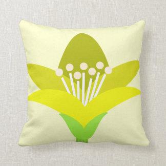 Yellow Fower Throw Pillow