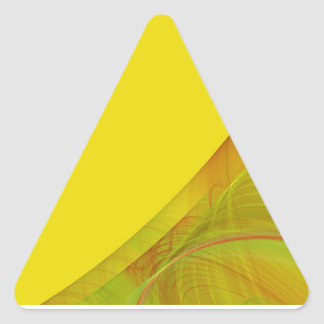 Yellow Fractal BackgroundTriangle Sticker