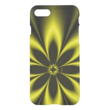 Yellow Fractal Burst iPhone 7 Case